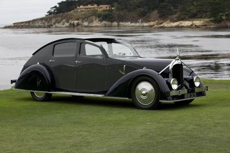 El 'Best of Show' del Pebble Beach Concours d'Elegance fue un Avions-Voisin C25 Aerodyne 1934