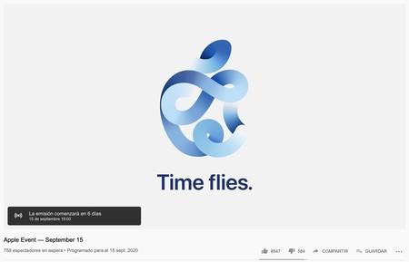 """""""Series 6"""" es una de las palabras clave del streaming de Youtube del próximo evento de Apple"""