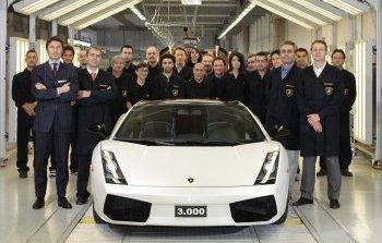 Unidad 3000 del Lamborghini Gallardo