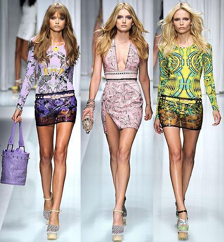 Versace Primavera-Verano 2010 en la Semana de la Moda de Milán