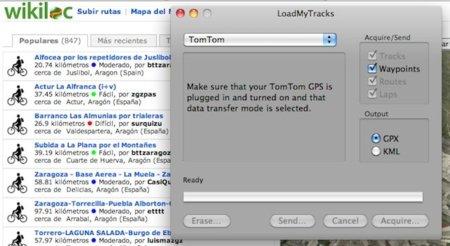LoadMyTracks, programa para convertir los tracks del GPS