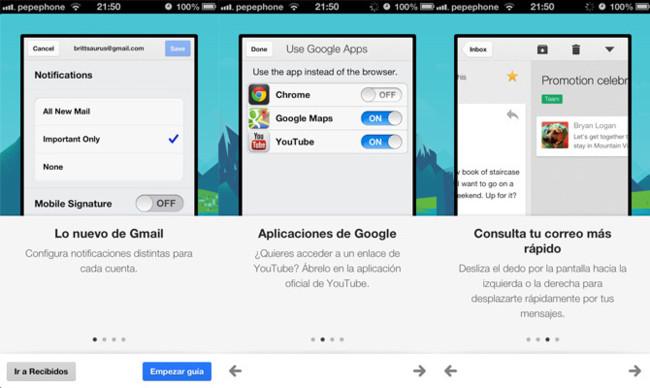 Gmail 2.3 para iOS