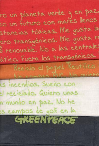 Pañuelos bandana de Greenpeace