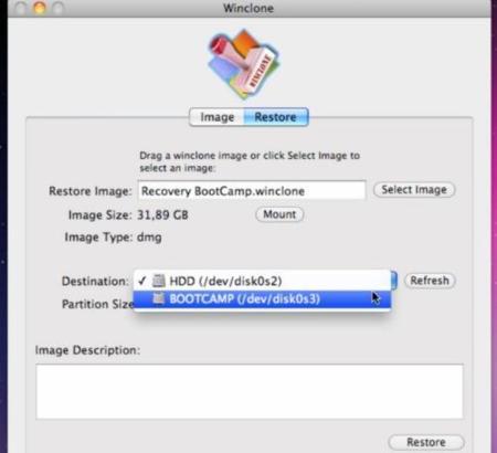 Winclone restaurar copia de seguridad