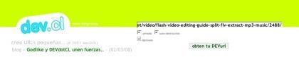 Dev.cl, nuevo generador de direcciones web cortas