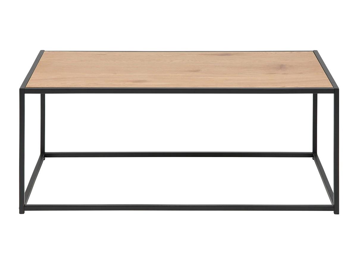 Mesa de centro de madera y metal