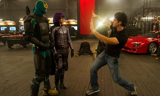 En el rodaje de 'Kick-Ass 2: con un par'