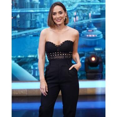 Tamara Falcó luce el perfecto look de noche de verano con un espectacular top y pantalones de Zara
