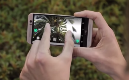 HTC One M9 captura video