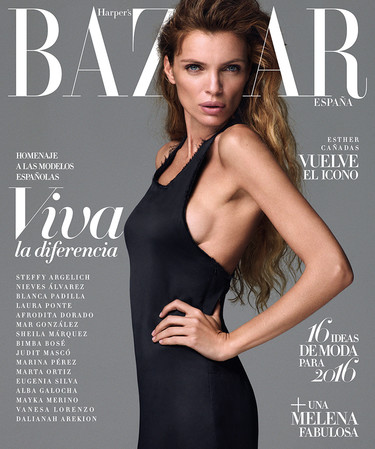 ¡Oh milagro! Haper's Bazaar devuelve a las portadas a Esther Cañadas