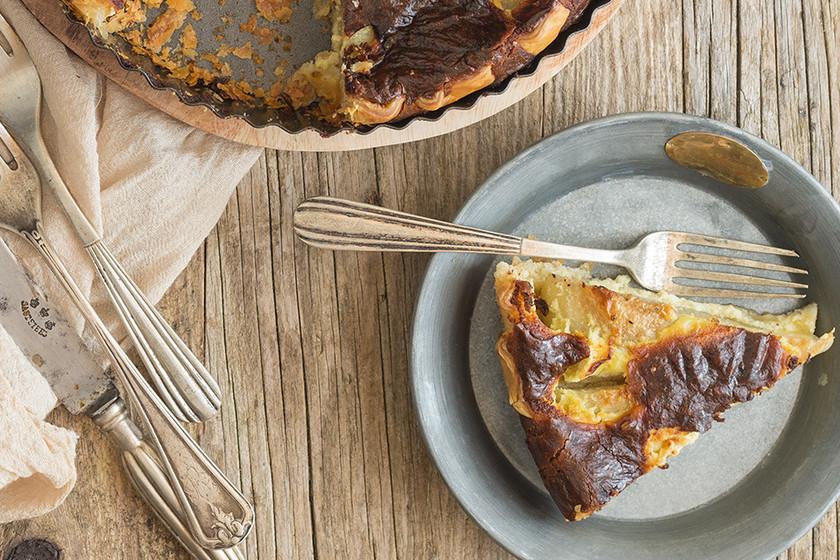 Tarta salada de pera y gorgonzola: Receta para una cena original