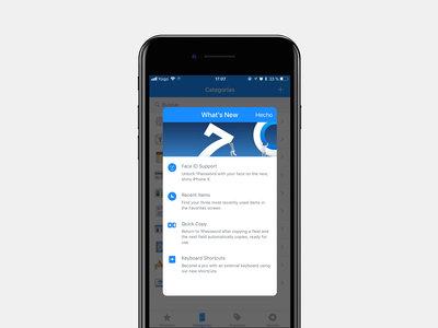 1Password 7 para iOS se rediseña para el iPhone X y añade soporte para Face ID
