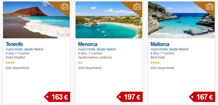 Logitravel nos ofrece 8 días y 7 noches en Tenerife, Menorca o Mallorca por menos de 200 euros