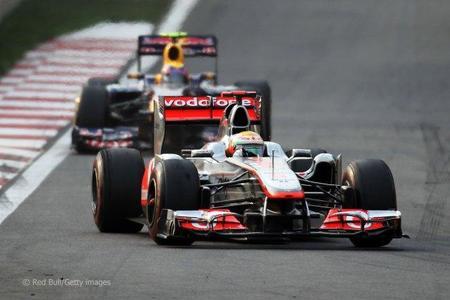 Lewis Hamilton y Mark Webber