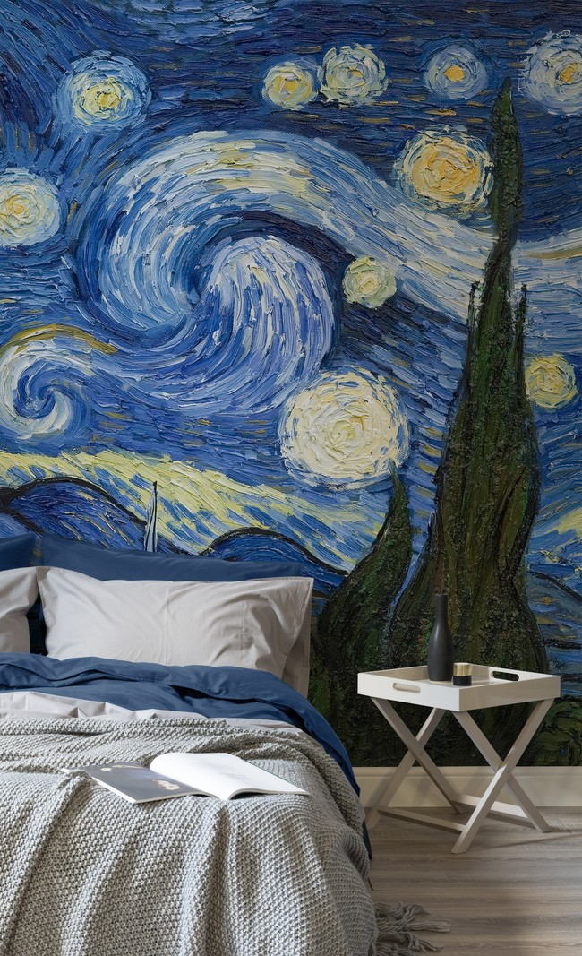 Starry Night By Van Gough Murals Wallpaper