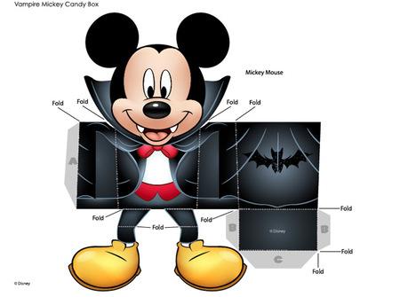 Cajita de Mickey Mouse vampiro para la mesa de Halloween