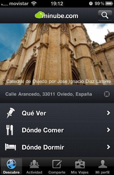 Aplicaciones viajeras para el iPhone: Minube