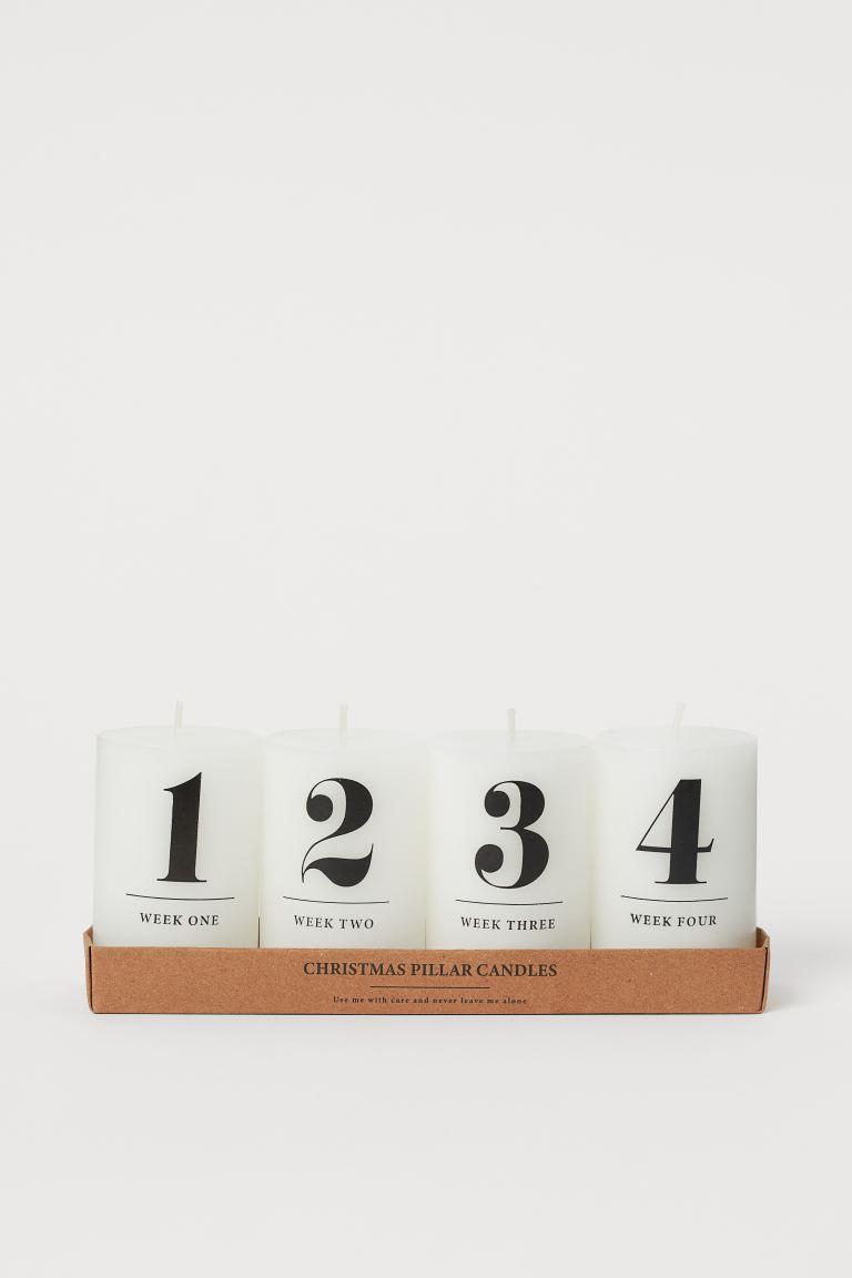 Pack de 4 velas gruesas