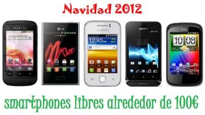Selección de smartphones que rondan los 100 euros sin permanencia para esta Navidad con los operadores