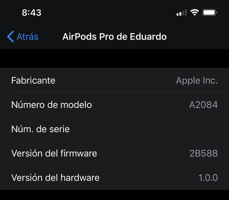 Firmware Airpods Pro