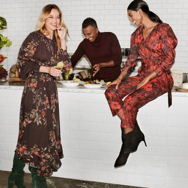 Vestidos de flores o en color rojo: así consigue H&M el look perfecto para Navidad que se puede reutilizar después