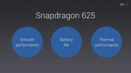 Xiaomi hablando del Snapdragon 625 en la presentación del Xiaomi Mi A1