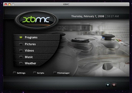 XBMC, el media center de la XBOX para Mac OS X Leopard