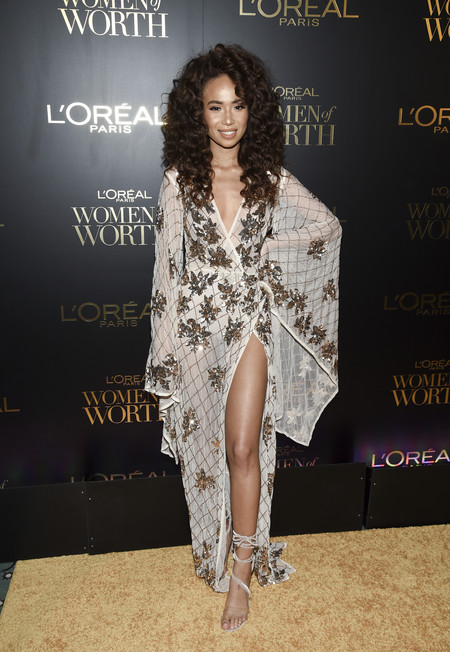 premios loreal women of worth red carpet look Symphani Soto