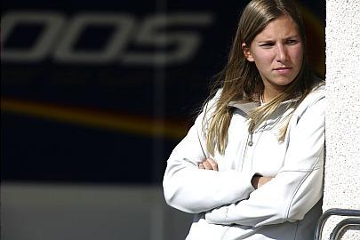 La primera mujer que rueda en un GP2
