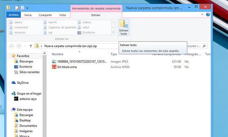 Compresión de archivos en Windows