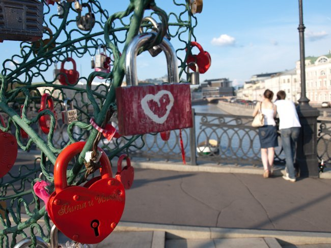 Candados amor, Moscú