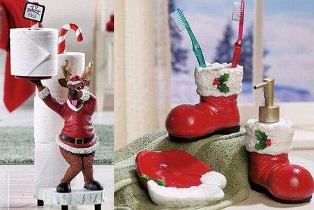 baño navidad cerámica