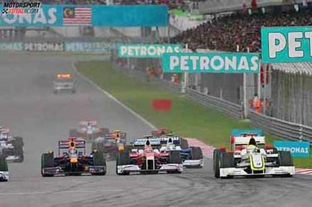 La Bandera Roja da la victoria a Button en Sepang, a falta de 23 vueltas