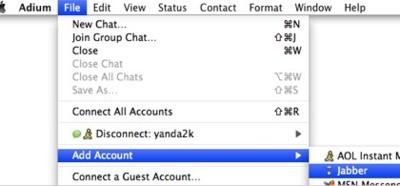 Usando Adium o iChat para conversar con tus amigos de Facebook