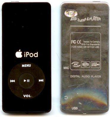 Copias malas del iPod nano