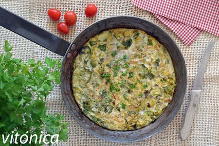 Tortilla fácil y ligera de coles de Bruselas: receta saludable