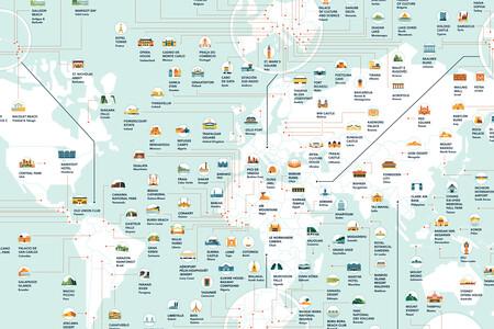 Las localizaciones de rodaje más populares en cada país del mundo, en un detalladísimo mapa
