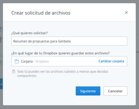 Dropbox Solicitud 2