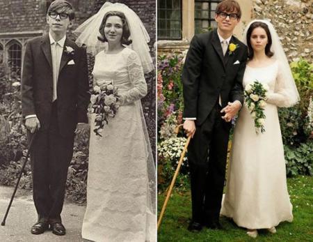 El auténtico matrimonio Hawking y el de la película
