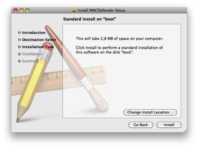macdefender malware instalación mac os x