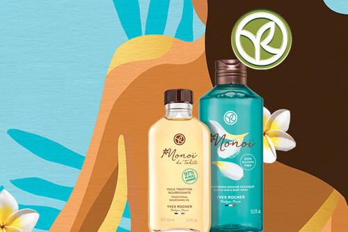 Puesta a punto para el verano con la gama de productos Monoï de Tahití de Yves Rocher, desde 2,95 euros