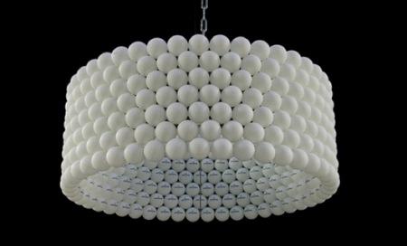 Recicladecoración: una bonita lámpara con pelotas de ping pong