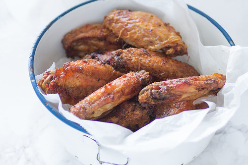 Alitas de pollo al horno al estilo Búfalo. Receta