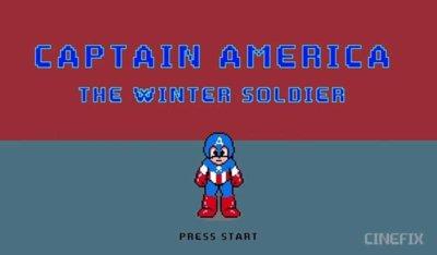 Así hubiera sido un juego en NES de la película del Capitán América