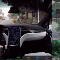 """Esto es lo que """"ve"""" el Autopilot de Tesla y así es capaz de esquivar obstáculos"""