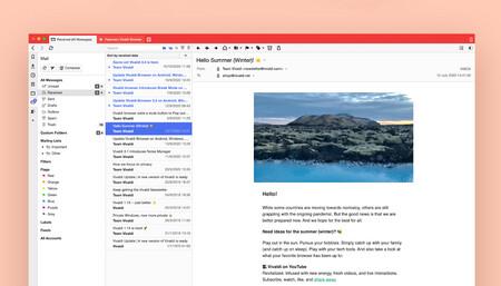 Vivaldi ha creado su propio cliente de correo electrónico integrado directamente en el navegador