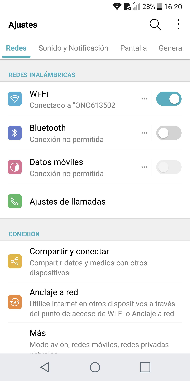 LG G6, interfaz de usuario