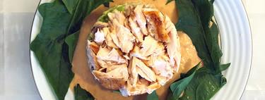 Goulash y ensalada de quinoa con salmón. Recetas de la gastronomía de Croacia