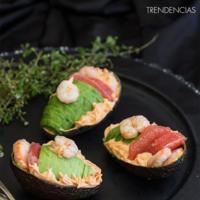 Aguacates rellenos con pomelo y gambones y Mousse de cholocate al horno en la quincena gourmet de Trendencias Lifestyle (XLI)