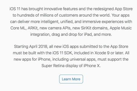 Comunicado Apple Desarrolladores